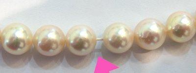 真珠の糸替え